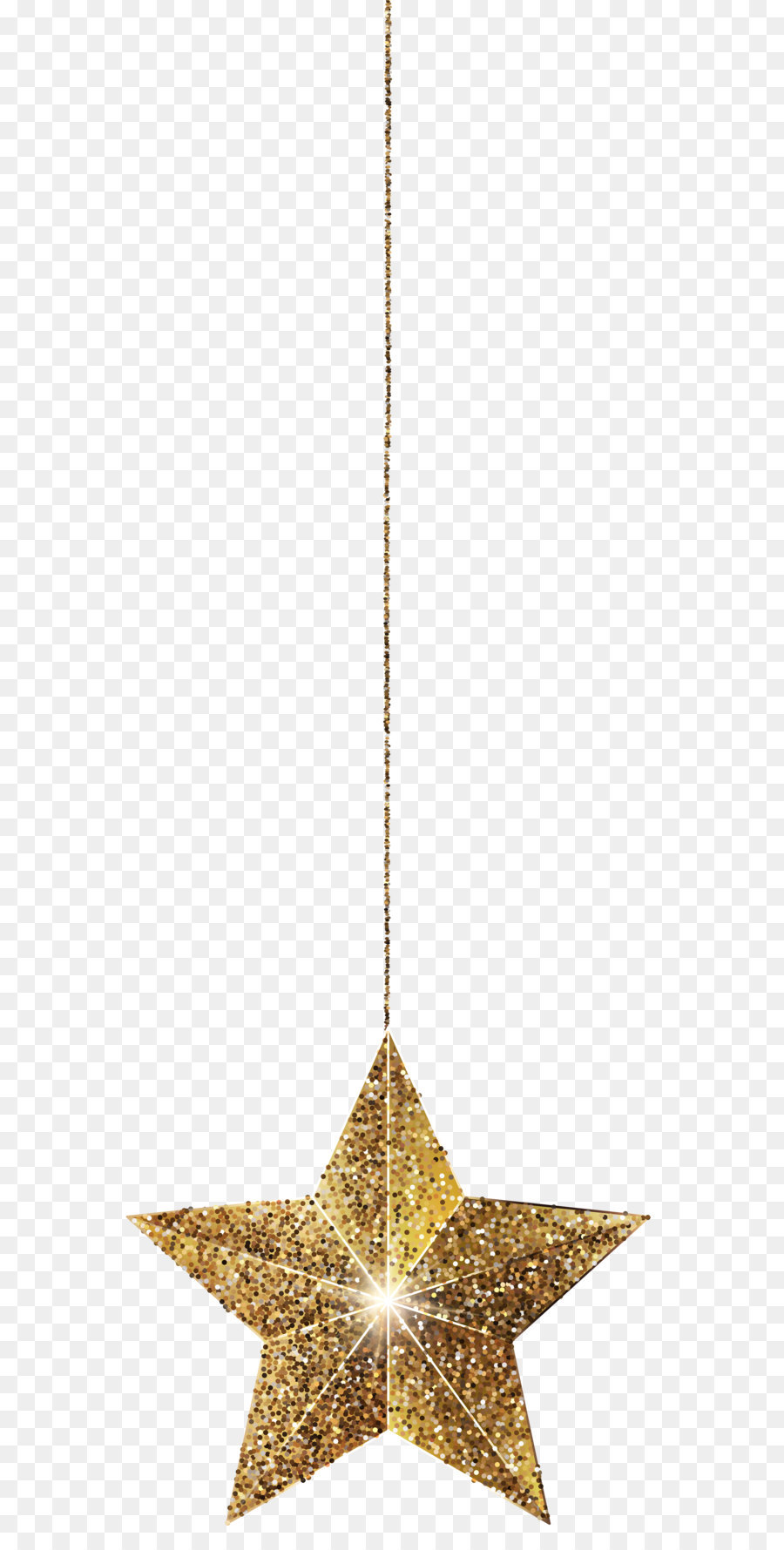 Christmas Chain Png.Golden Star