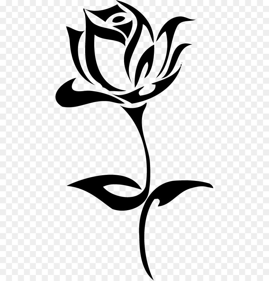 Flowers By Tribal Rose Tattoo Tribe Tattoo Rose Png Image