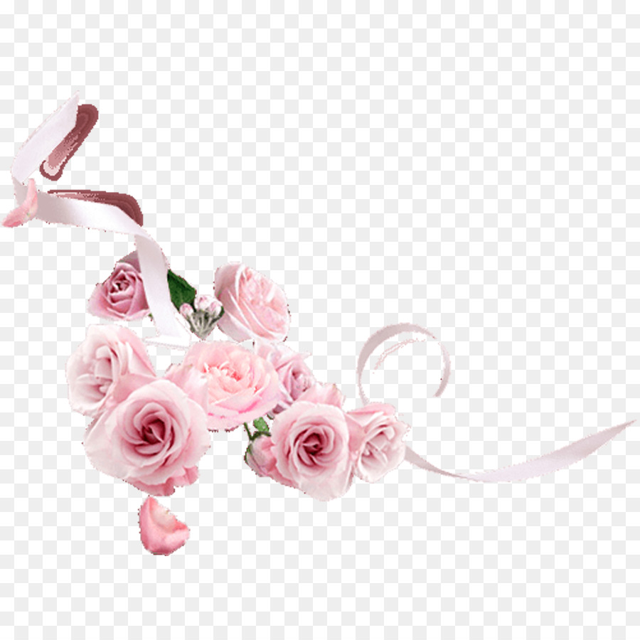 Flower Background Ribbon