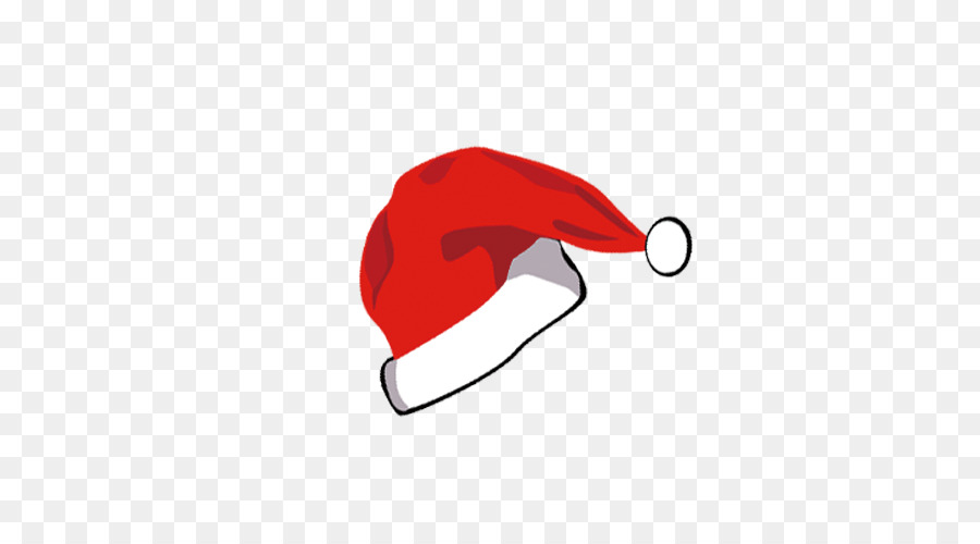 Christmas Hat Transparent Clipart.Cartoon Christmas Hat