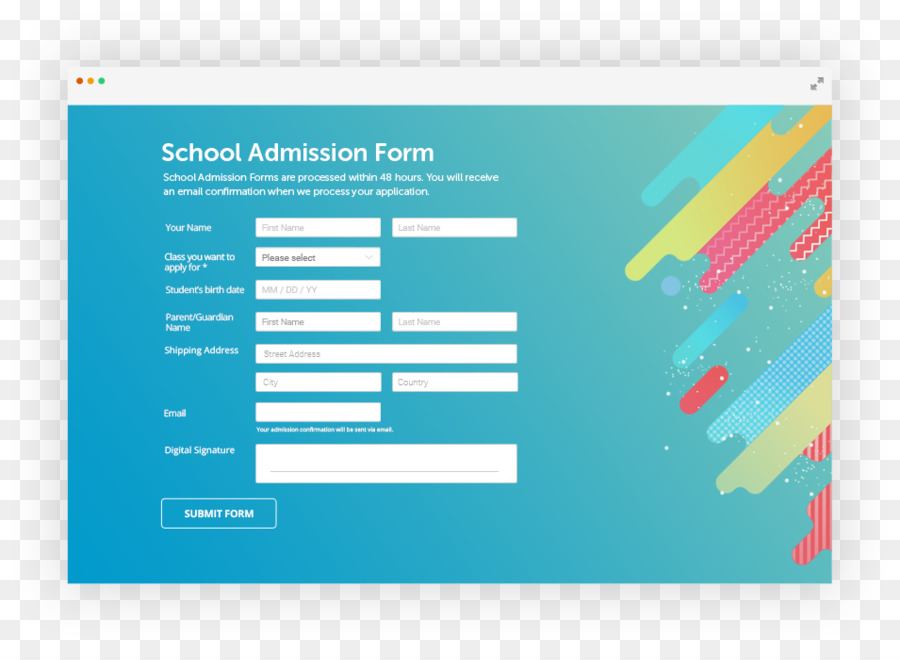 order form background design  Education Background