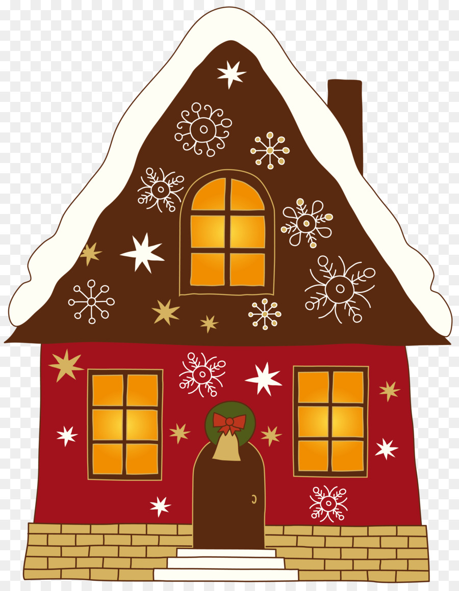 House With Christmas Lights Clipart.Gingerbread House Christmas Santa Claus Clip Art House Clipart