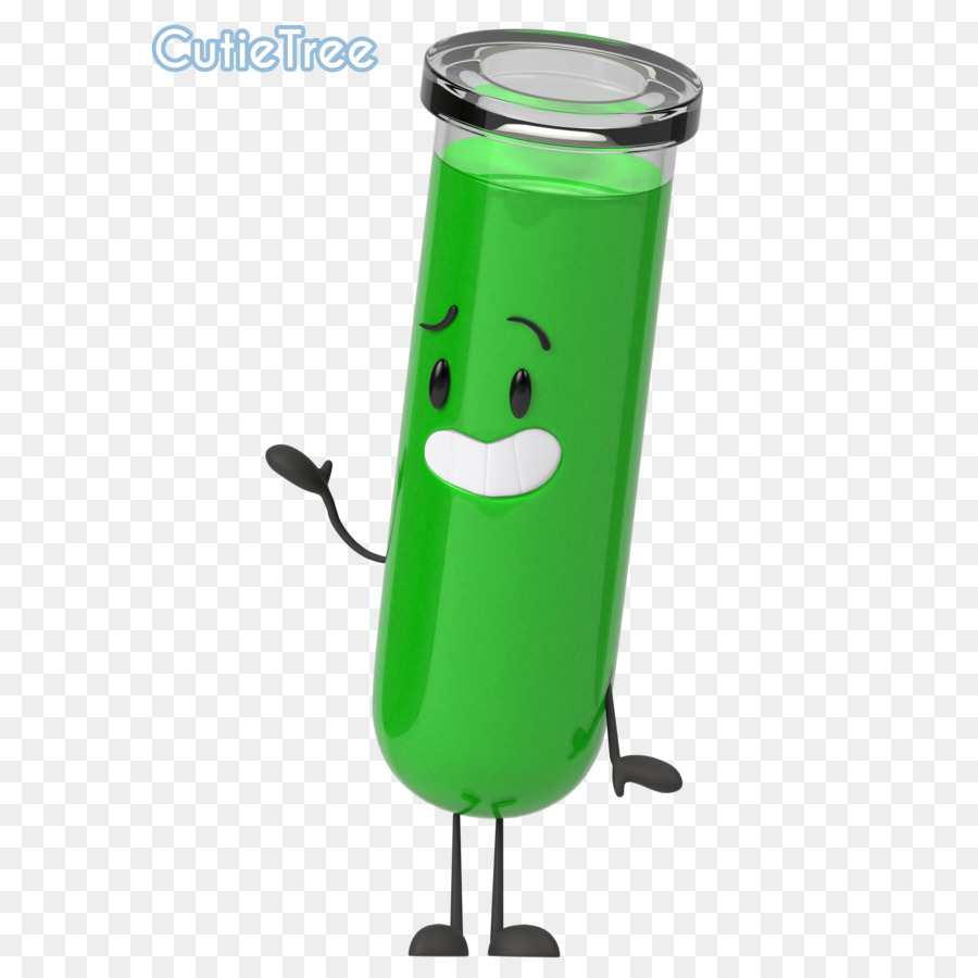 3D Cartoon Tube green background