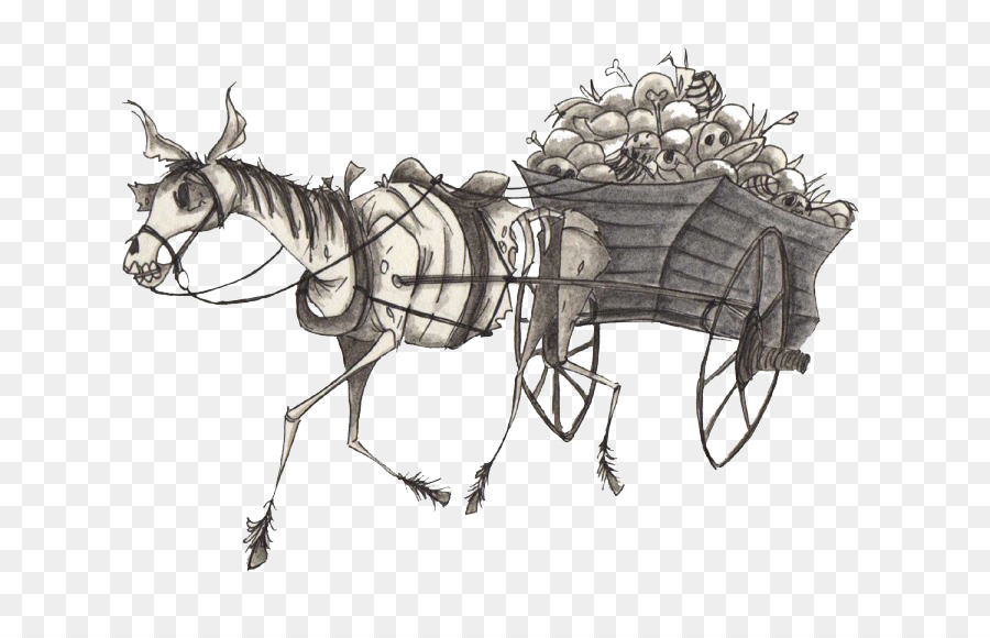 Christmas Horse Drawing.Christmas Black And White