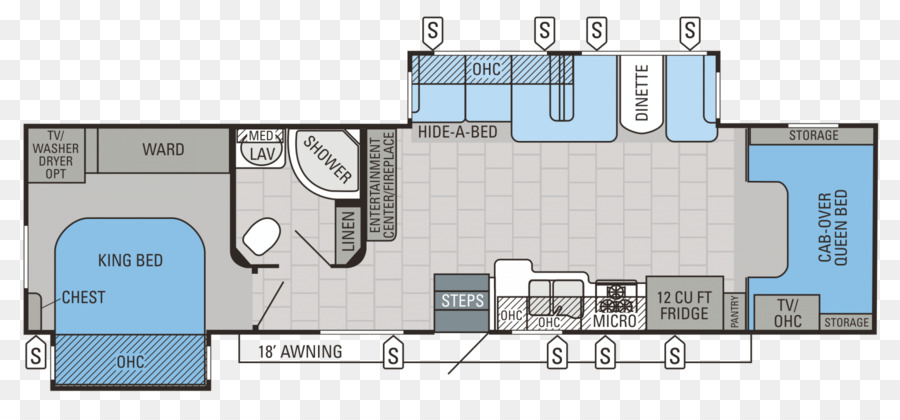 Floor plan Jayco, Inc. Caravan Wiring diagram - house on