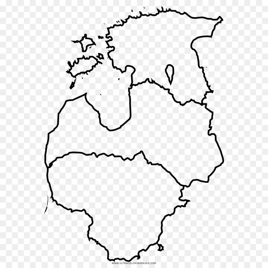 Baltic states Drawing Coloring book Map Clip art - map
