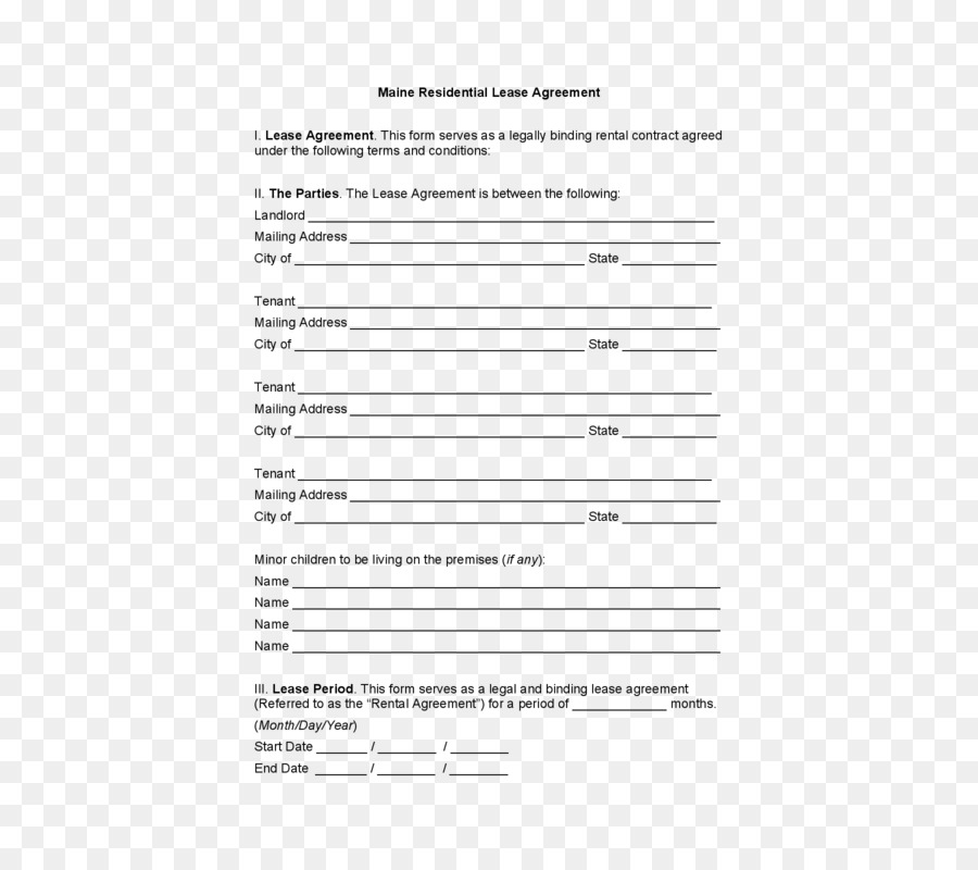 Rental Agreement Lease House Renting Contract House