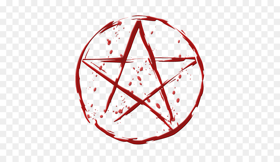 Pentacle Pentagram Wicca Witchcraft Religion - Blood effect