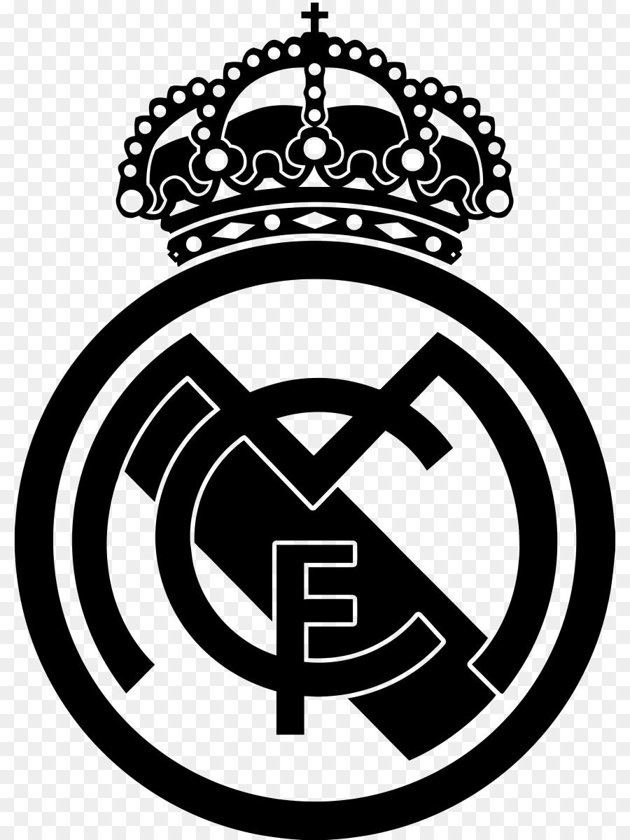 Real Madrid Logo Png Black And White