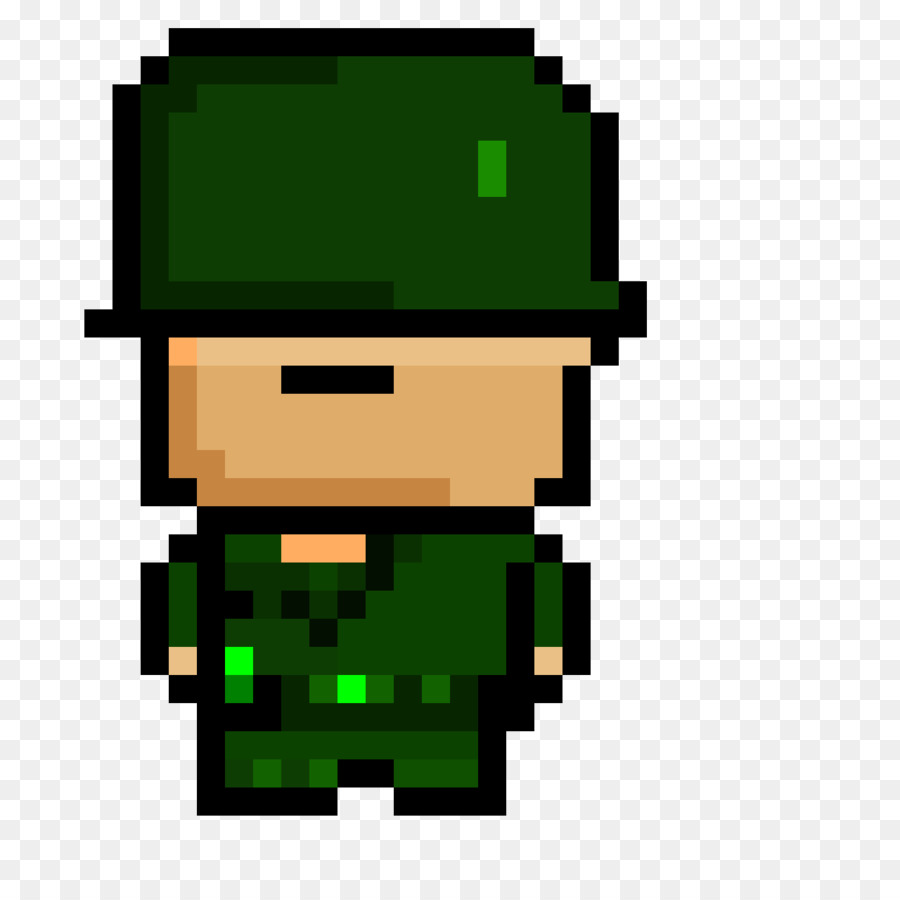 Pixel Art Minecraft Soldier Green 2 Report Army