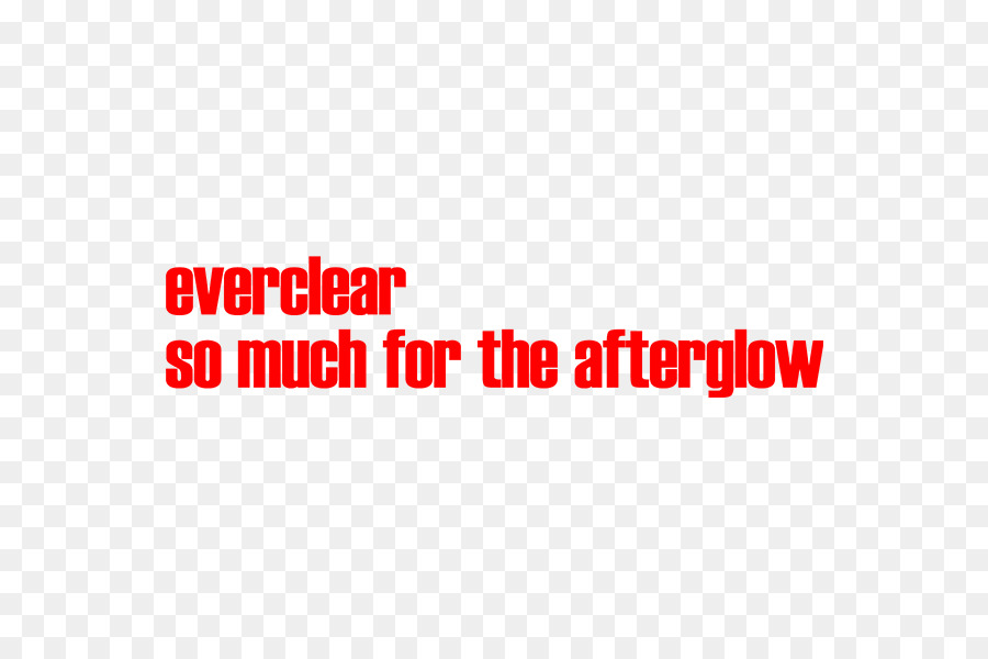 So Much for the Afterglow Logo Brand Font Everclear
