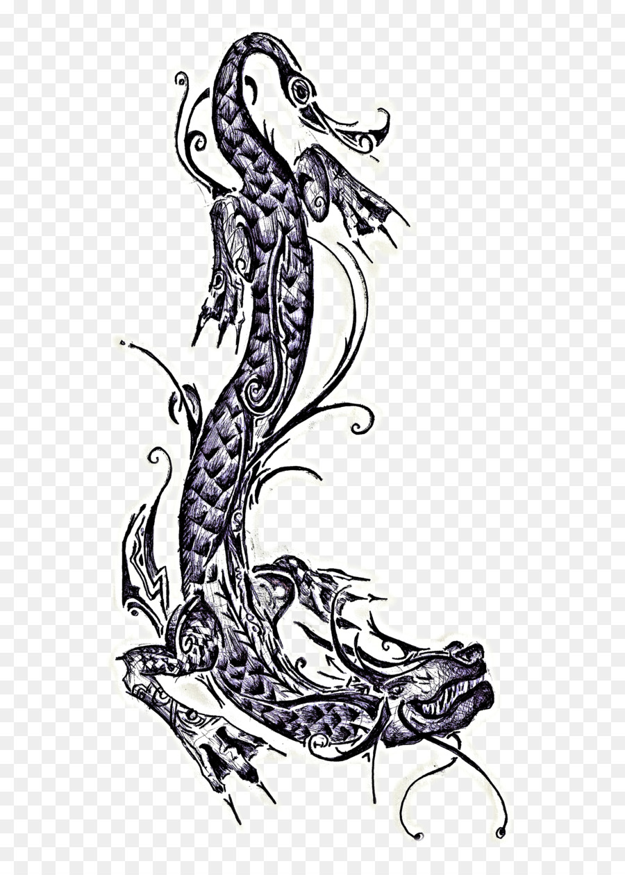 Abziehtattoo Seahorse Drawing Visual Arts Traditional Bearded