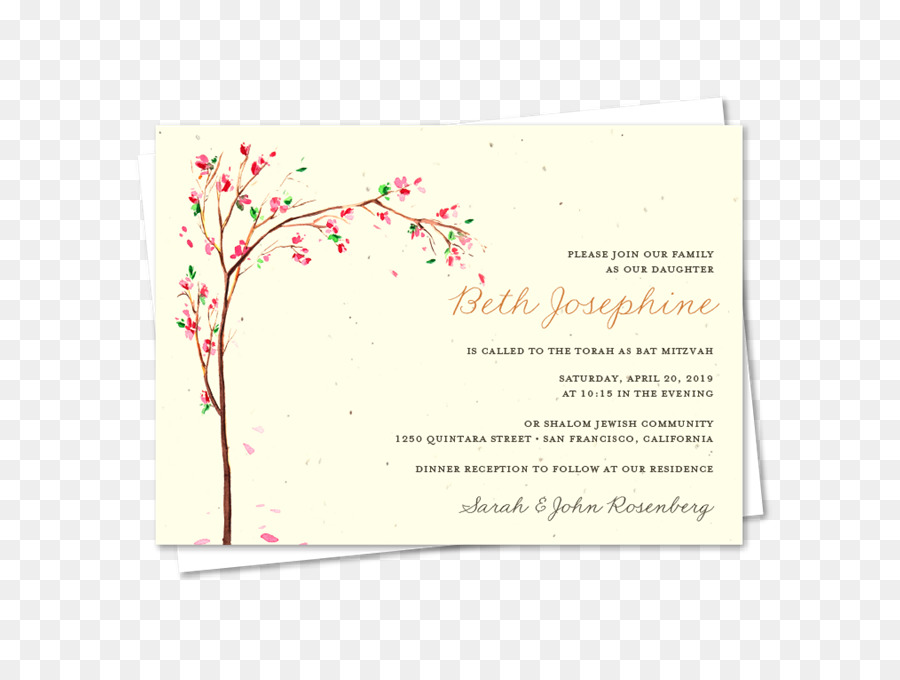 Floral Wedding Invitation Background