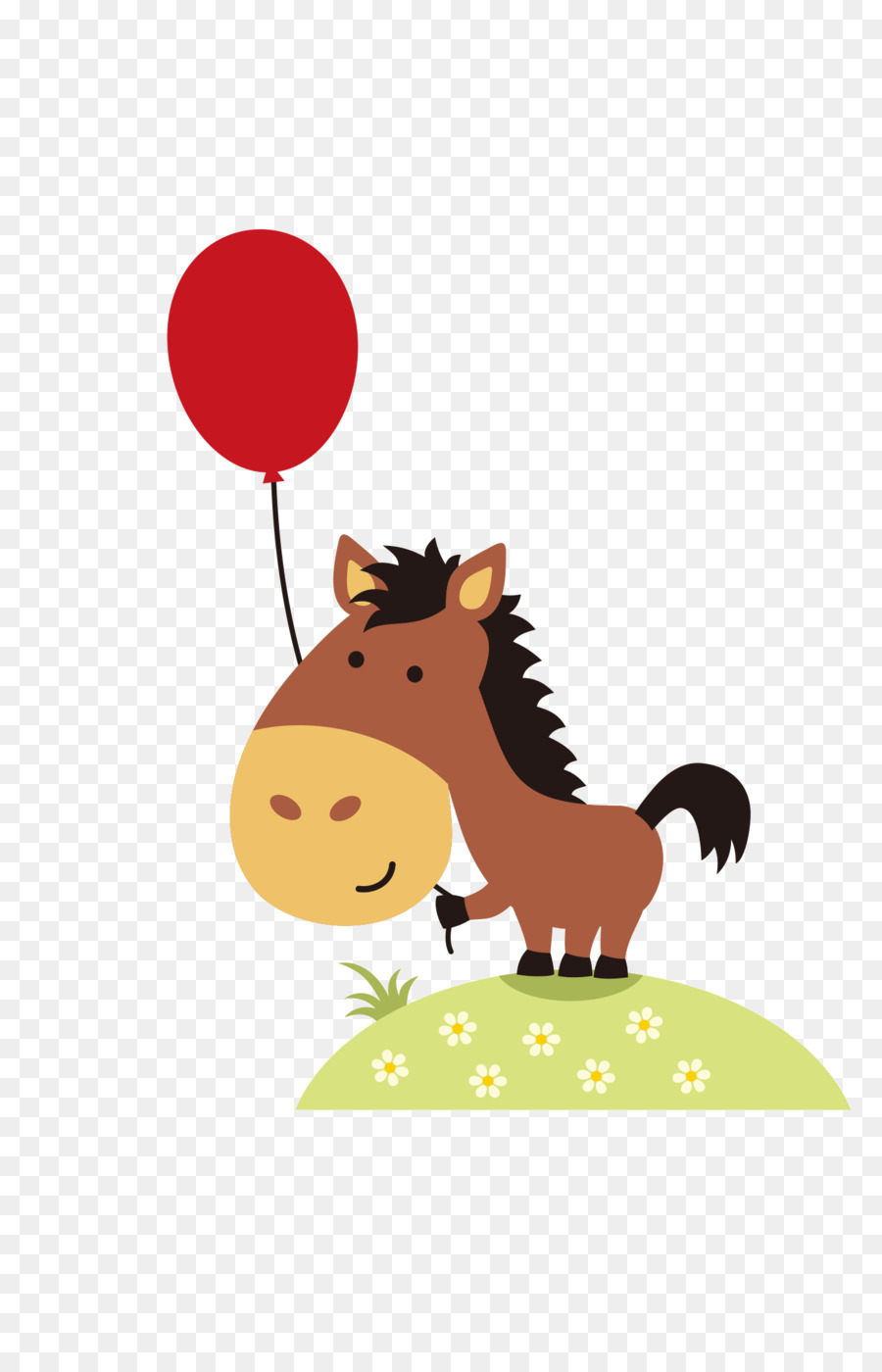 Horse Birthday Card Greeting Note Cards Image