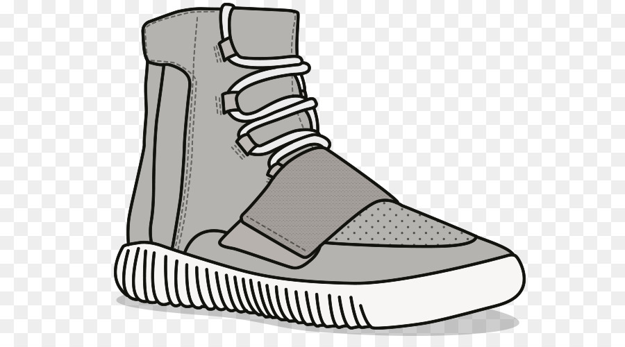 bbb866a0a24ae Clip art Shoe Adidas Yeezy Boost 750  Chocolate Mens Openclipart Vector  graphics - adidas