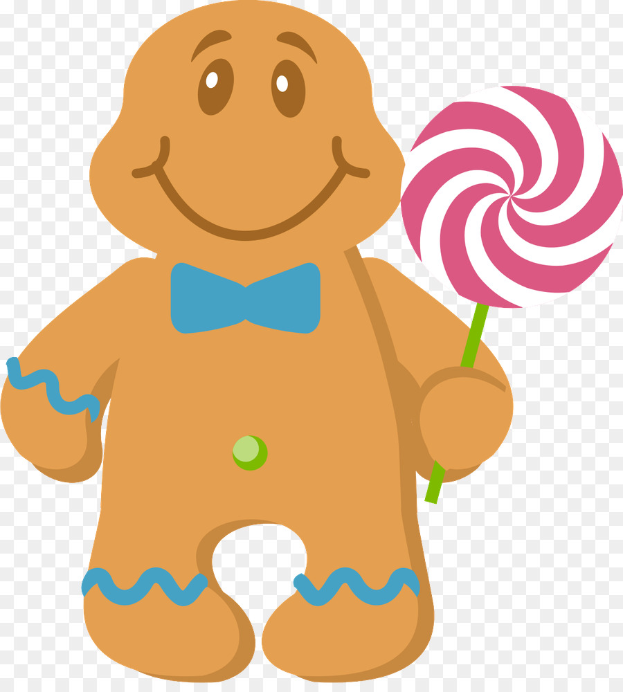 Christmas Candyland Clipart.Christmas Gingerbread Man