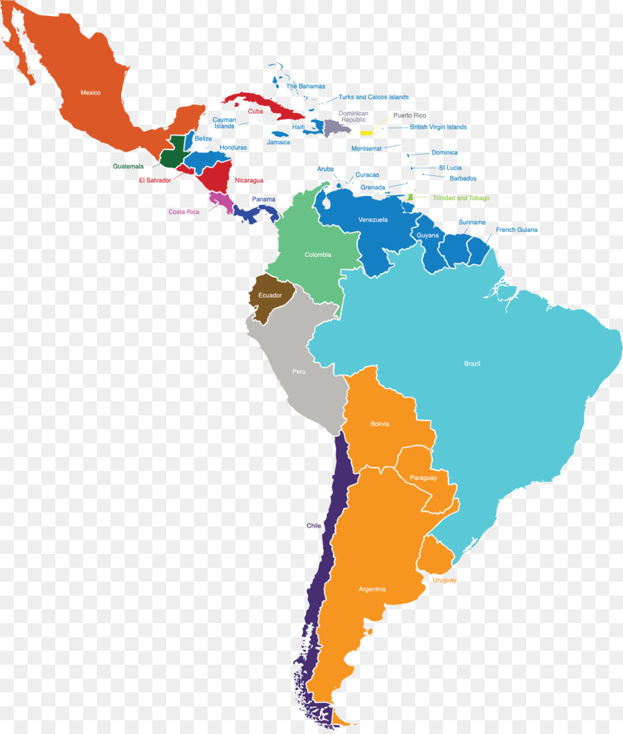 South America Latin America Map Vector graphics United States - asia ...