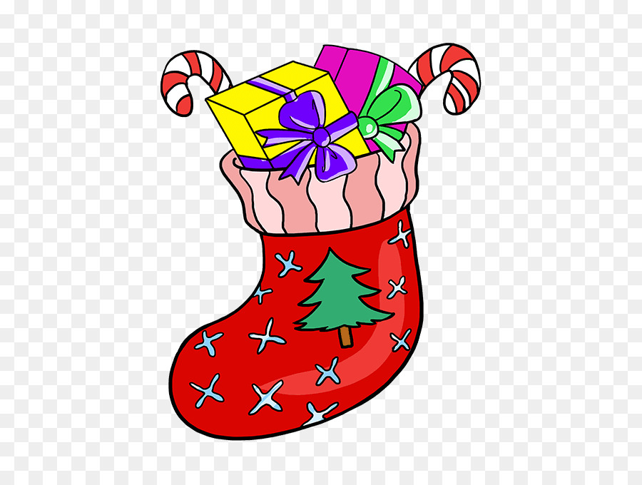 Christmas Stocking Drawing Easy.Drawing Tutorial Image How To Cartoon